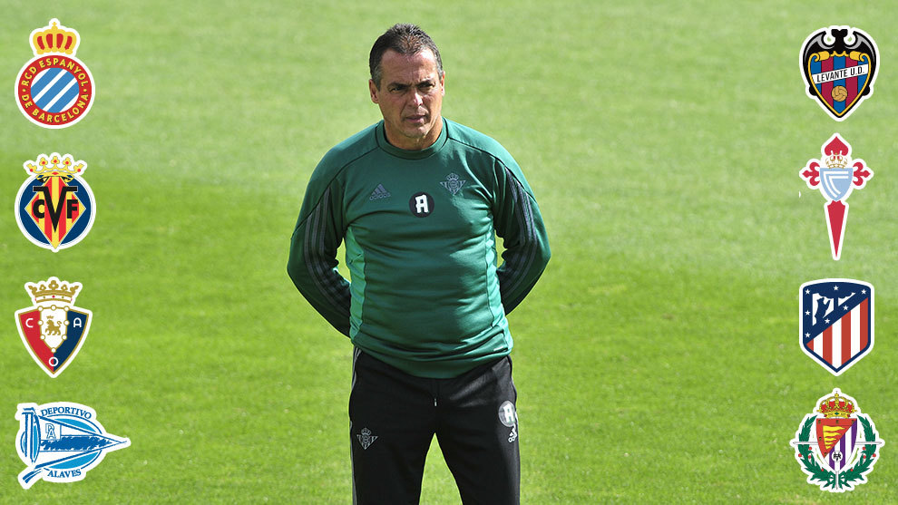 El nuevo técnico bético, ante ocho finales al frente del Betis
