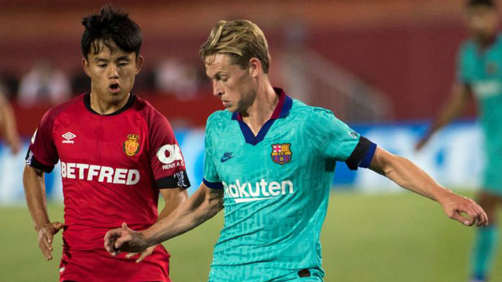 De Jong, ante Kubo, en el pasado Mallorca-Barça