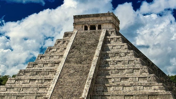Pirámide la civilización maya, cuyo calendario anuncia el fin del...