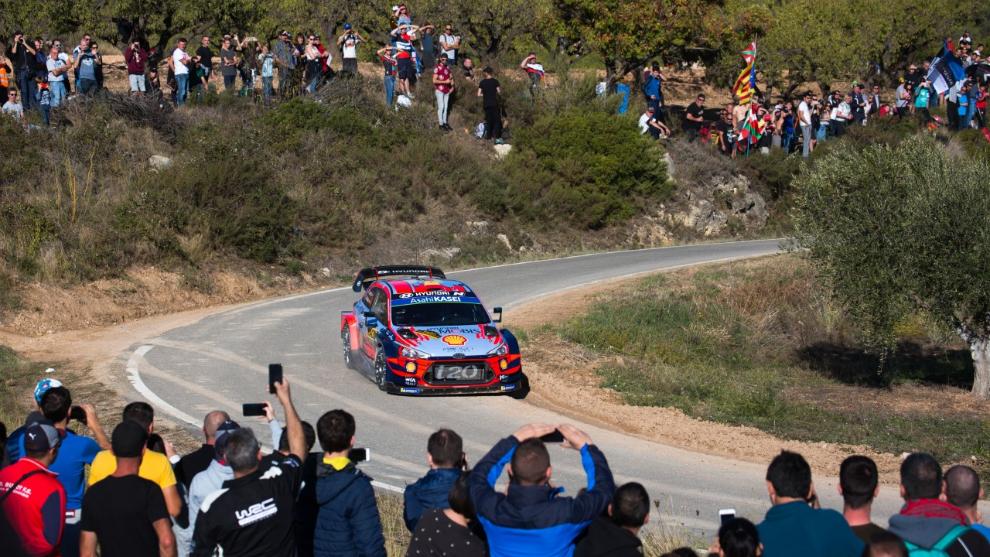 Sordo, el año pasado, en el Rally de Cataluña, que regresará a...