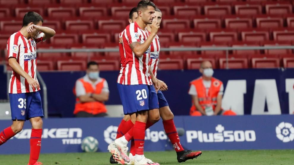 Vitolo, tras marcar al Valladolid el pasado sábado.