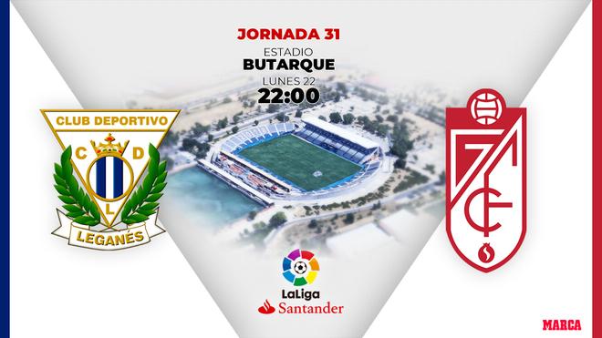 Leganés - Granada: Horario, canal y dónde ver por TV el partido de Liga