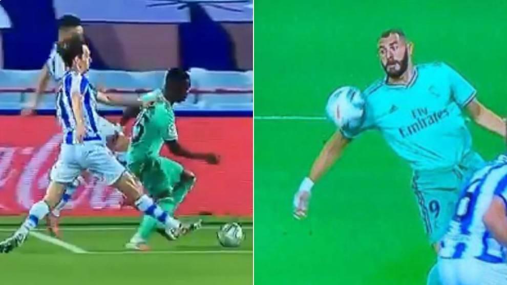 Real Madrid vs Real Sociedad: polémico arbitraje