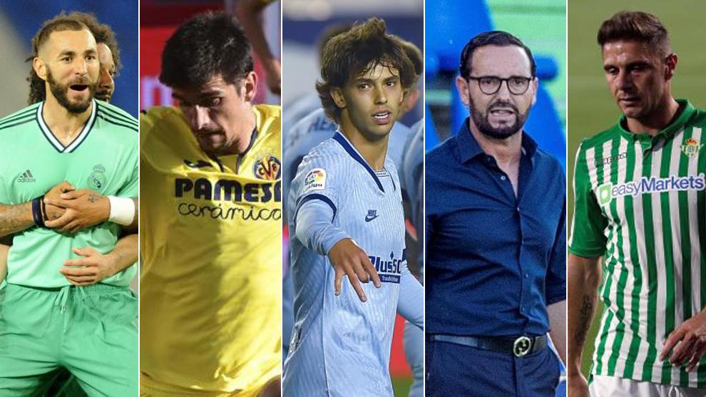 Benzema, Gerard Moreno, Joao Félix, Bordalás, Joaquín
