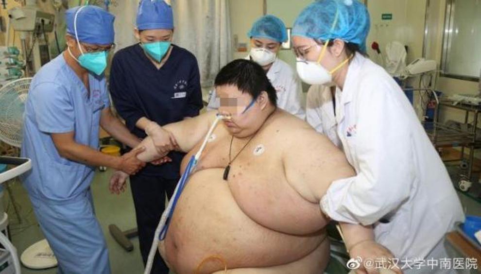 Zhou ha engordado 100 kilos durante su confinamiento por el...