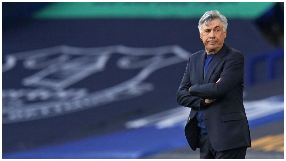 El entrenador del Everton, Carlo Ancelotti.