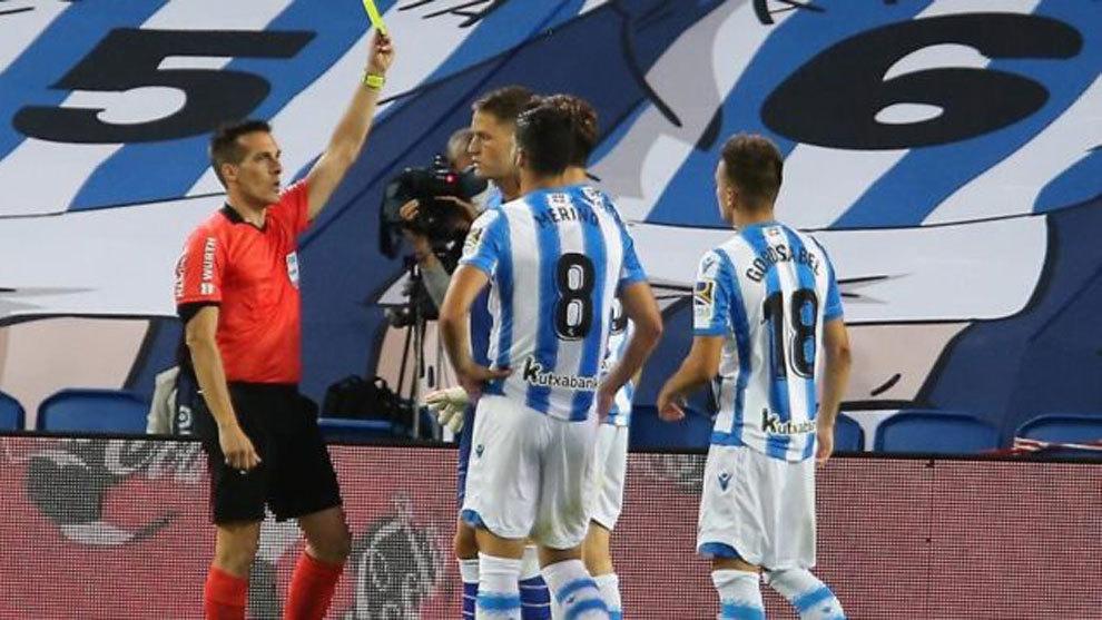 Real Sociedad: Dos partidos a Illarramendi por menosprecio a los rbitros en el tnel de vestuarios