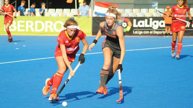 Júlia Strappato, en la final del Europeo Sub 21 ante Holanda.