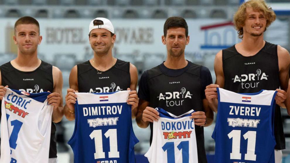Coric, Dimitrov, Djokovic and Zverev