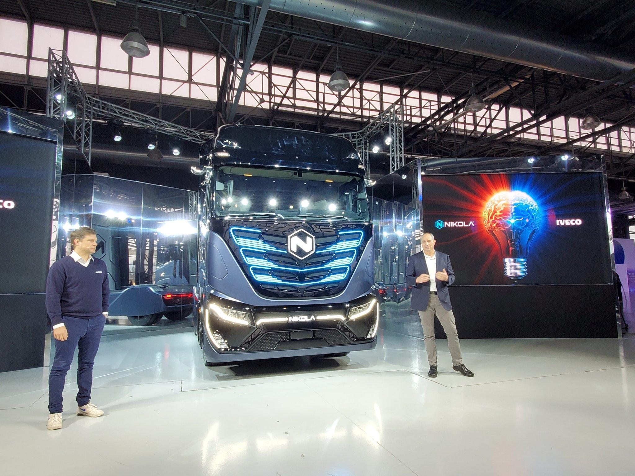 Presentación del acuerdo entre Nikola y la compañía italiana Iveco.