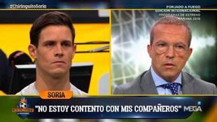 Cristóbal Soria regresa al plató, pide perdón... y vuelve a criticar al equipo de El Chiringuito