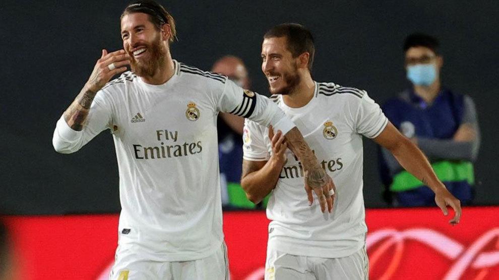 Sergio Ramos and Hazard against Valencia