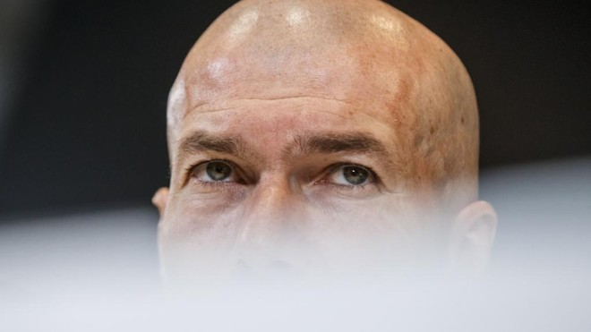 Zidane spoke to the press at Valdebebas.