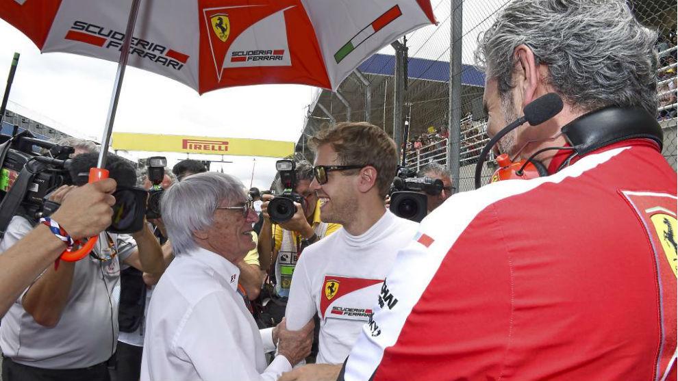 Ecclestone, con Vettel.