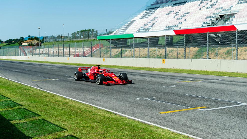 Vettel, hoy en Mugello.