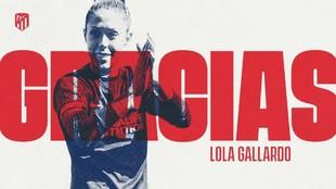 Lola Gallardo, jugadora del Atlético de Madrid.