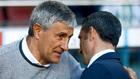 Setién y Valverde en ua foto de archivo