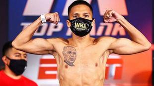 El boxeador estadounidense Joshua Franco.