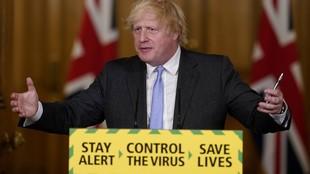 Boris Johnson, en su comparecencia del martes en la que informó de...