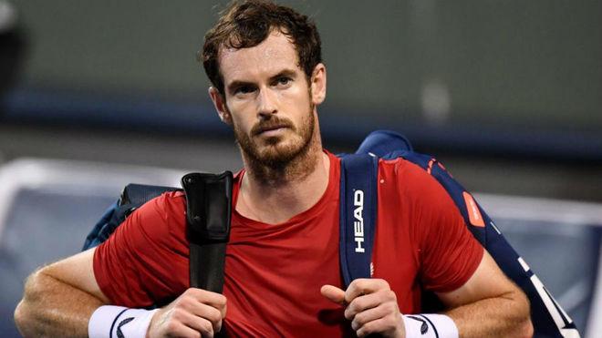 Andy Murray, tras su partido de regreso a las pistas.
