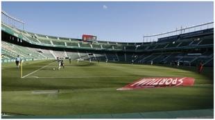 Imagen de archivo del estadio del Elche, sin publico.
