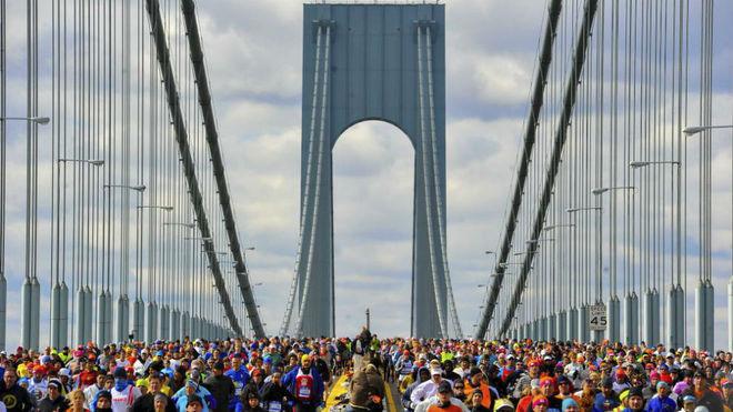 Imagen de una edición pasada del maratón de Nueva York.