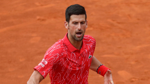 Novak Djokovic en un duelo del certamen.