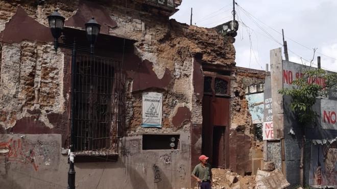 Estragos provocados por el sismo de 7.5 grados en México.