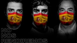 Alonso y los Sainz, en una imagen promocional de la campaña 'No...
