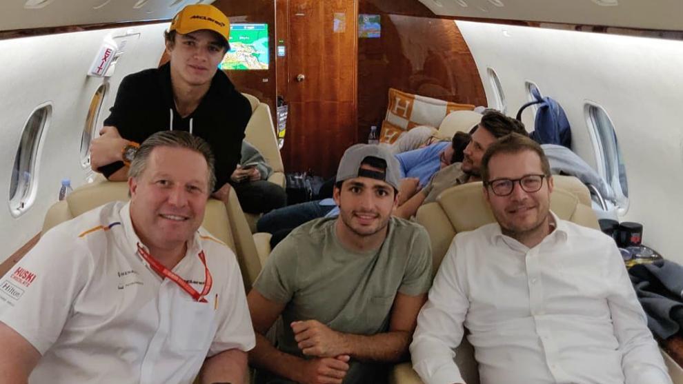 Brown, Sainz, Seidl y Norris.