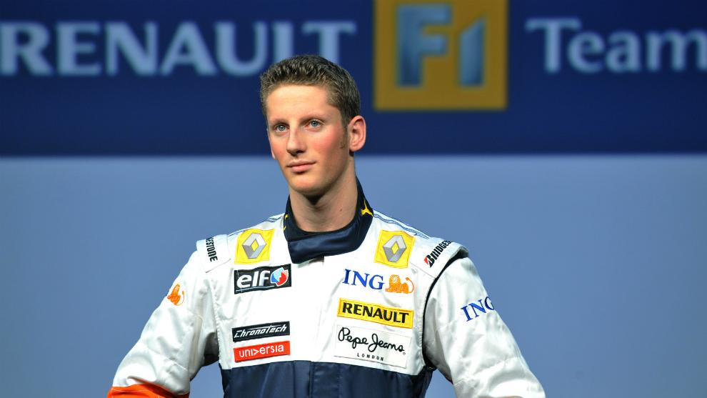 Grosjean, cuando fichó por Renault en 2009.