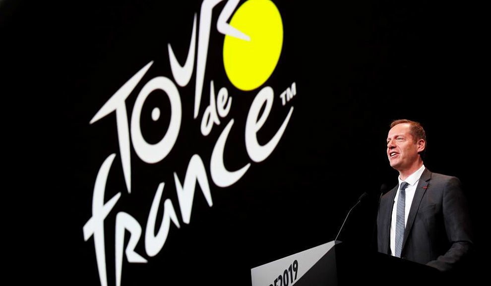Christian Prudhomme, en un acto en el Palacio de Congresos de París....