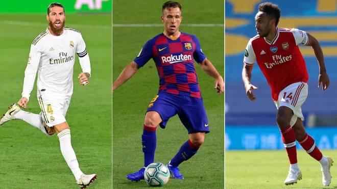 Sergio Ramos, Arthur y Aubameyang, algunos de los nombres del mercado
