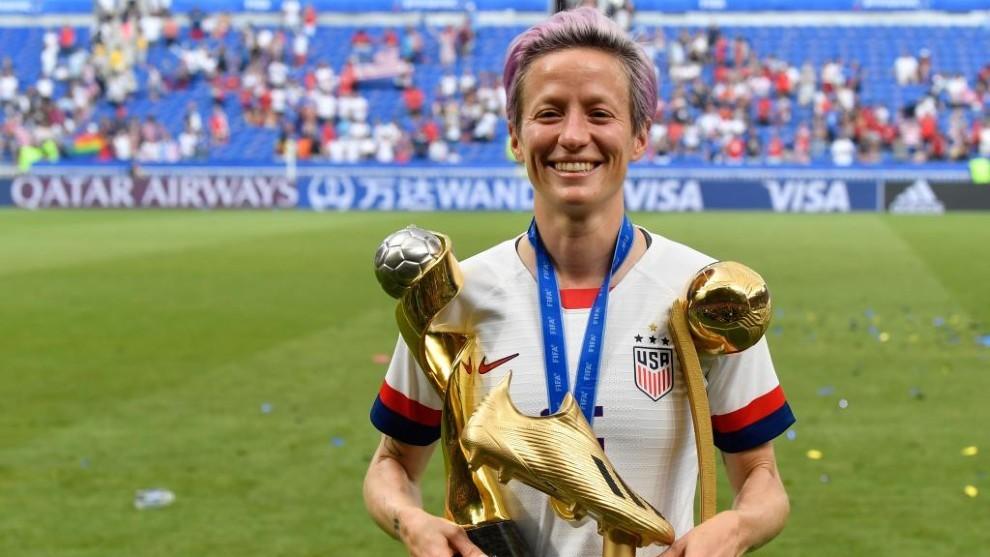 Megan Rapinoe, jugadora de Estados Unidos, tras ganar el Mundial de...