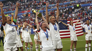 Festejo de Estados Unidos en el último Mundial.