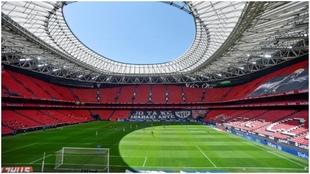 Vista general del estadio San Mamés, donde se jugará el...