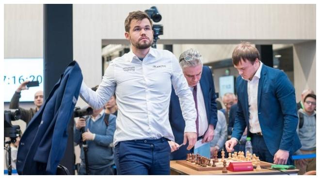 Magnus Carlsen, tras terminar una partida