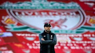 Klopp, durante un entrenamiento con el Liverpool