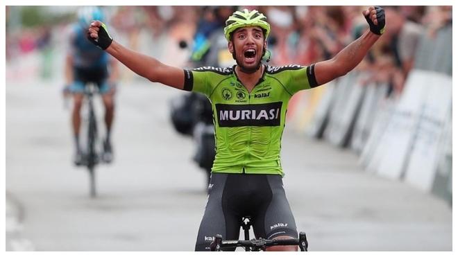 Hector Saez, ganando una etapa de la última Vuelta a Portugal