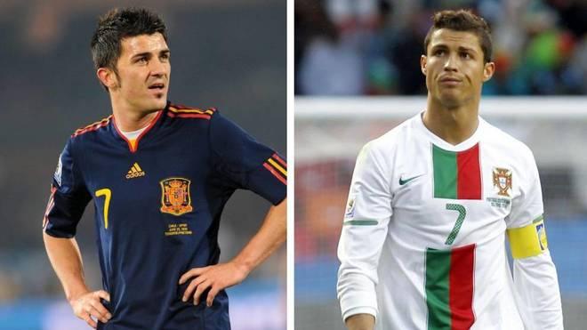 Villa y Cristiano, un duelo de '7'