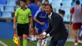 Guti, durante un partido del Almería