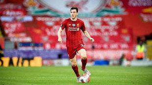 Robertson, con el Liverpool.