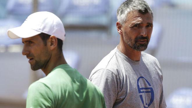 Goran Ivanisevic, junto a Djokovic
