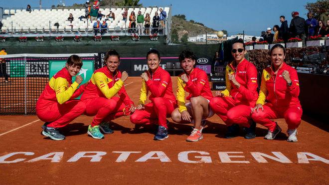 El equipo español de Copa Federación