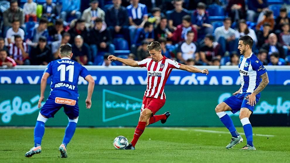 Marcos Llorente, en el partido de la primera vuelta ante el Alavés.