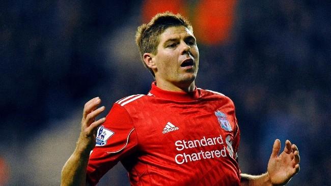 Steven Gerrard, durante su etapa como futbolista del Liverpool