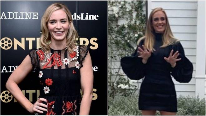 Se vuelve tendencia el parecido de Adele con Emily Blunt.