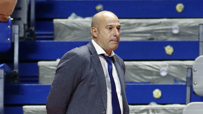 Tino Pérez, durante el partido frente a Palma.