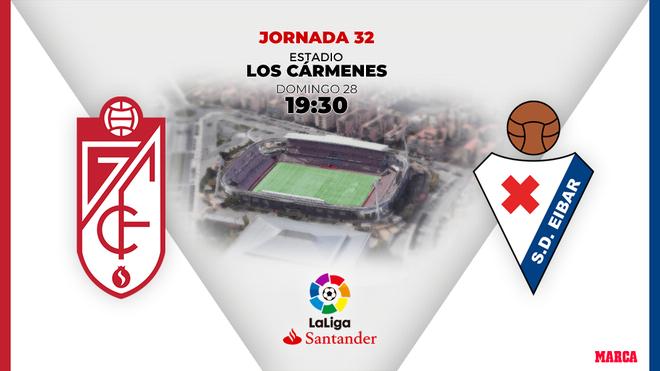 Granada - Eibar: Horario y dónde ver por TV el partido de la jornada 32 de Primera