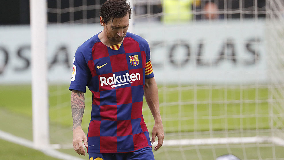 La peor versión de Messi llega con Setién